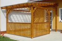 Rohová pergola - pergoly (WOOD-INTEX)